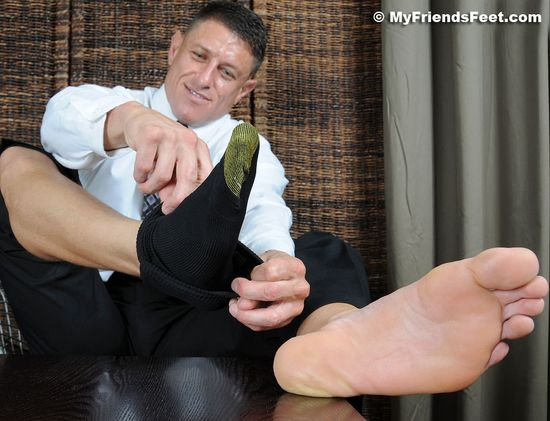 Bryce Evans' Bare Feet & Dress Socks