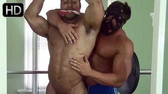 Titan in Bodybuilder Gym Bondage