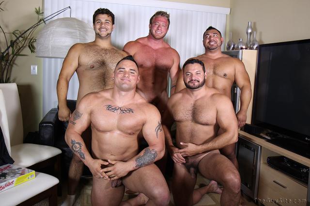 Marcello, Bruiser, Aston, Mario and Jackson Gunn