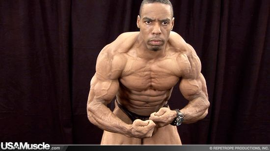 2010 NPC National Bodybuilding Championships Men's Backstage Posing Part 2
