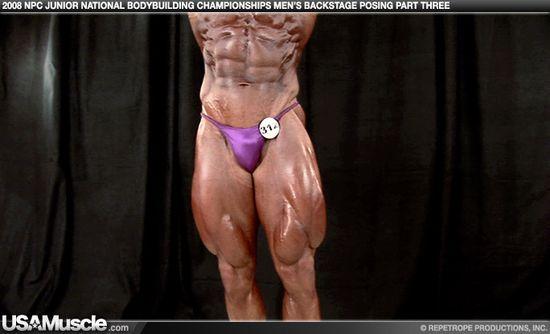 2008 NPC Junior National Championships Men's Backstage Posing Part 3