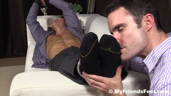 Bryce Evans Tied Up and Foot Worshiped