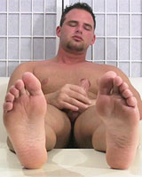 Jon Puts His Size 13 Feet & Dark Socks Right In Your Face As He Gets Off