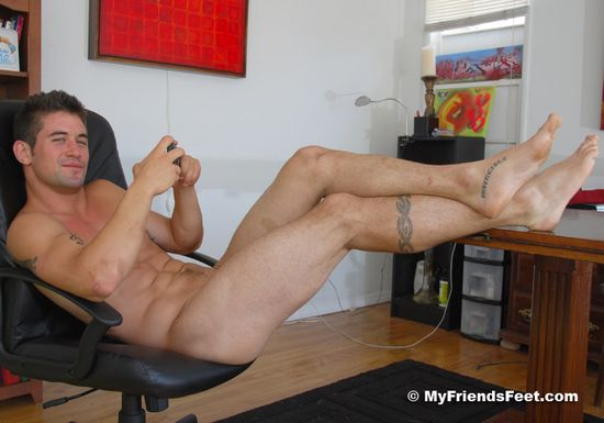 Pro Skater Fiero's Rugged Size 12 Bare Feet (and Naked Body)