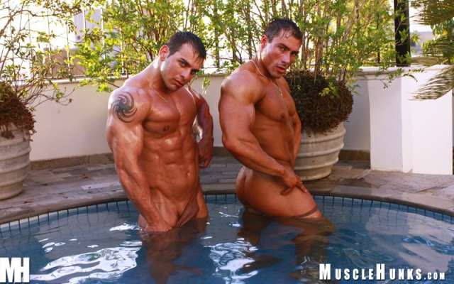 MuscleHunks Gilberto Nestore and Andy Travers