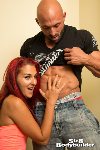 Str8Bodybuilder Max Chevalier and Natacha