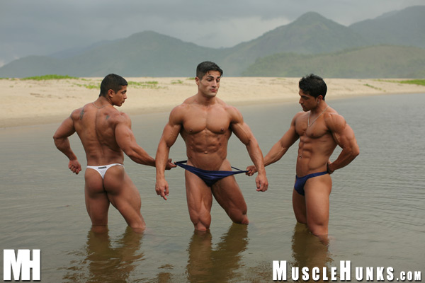 MuscleHunks Amerigo Jackson, Pepe Mendoza and Scott Kirby