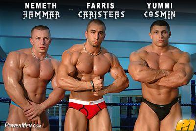 Powermen Yummi Cosmin, Nemeth Hammar and Farris Caristeas