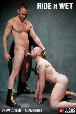 Hardcore Hunk Drew Cutler Fucks Adam Herst through a Gloryhole