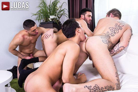 Brice Farmer Barebacks With Joey Pele, Alejandro Alvarez, And Esteban Nice