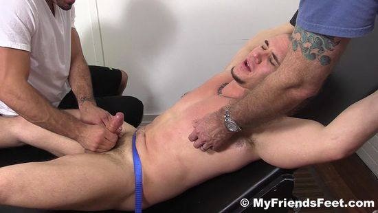 Adam Jerked Off and Tickled By Ricky Larkin