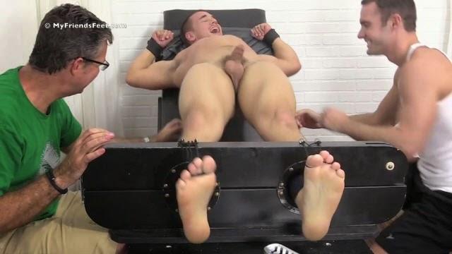 Ultra-Ticklish College Jock Adam Tickled Naked