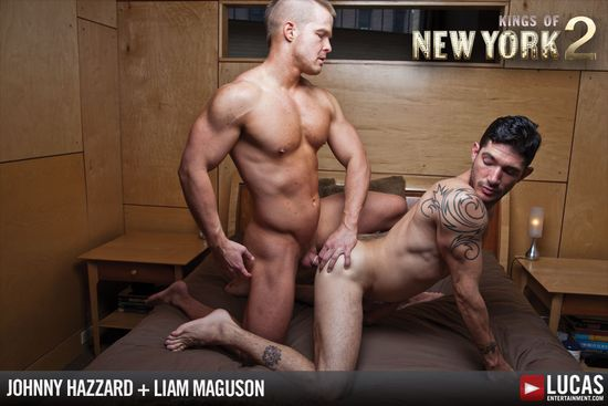 Johnny Hazzard's Legendary Ass Debuts on L.E. with Liam Magnuson's Cock