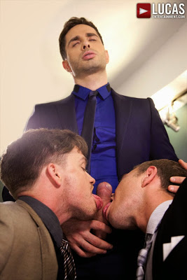 Michael Lucas Barebacks in the Boardroom with Lucas Knight, FX Rios, and Alexander Greene