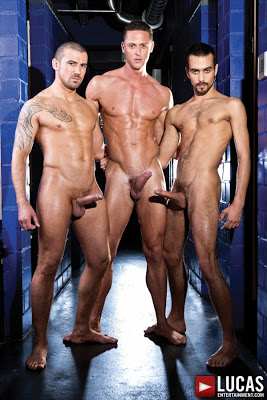 Fostter Riviera, Ivan Gregory, and Marco Sessions Fuck Raw