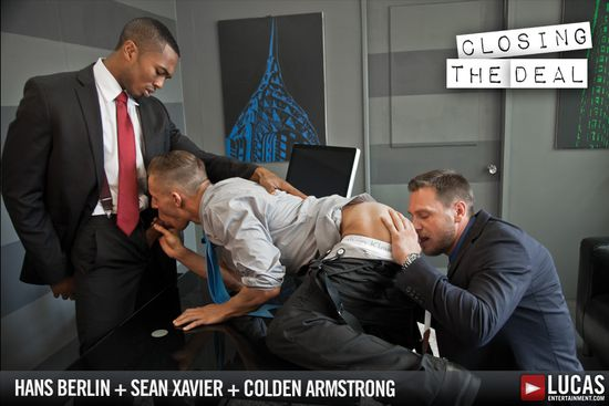 Sean Xavier, Hans Berlin and Colden Armstrong in Gentlemen 09: Closing the Deal