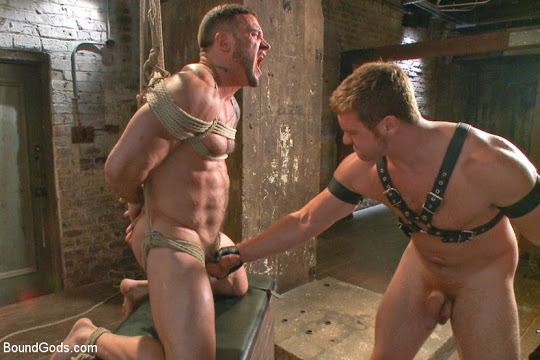 New Muscle Stud Seven Dixon Bound Beaten and Fucked