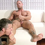 Rod Gets Off While His Size 12 Feet and Socks Are Worshiped