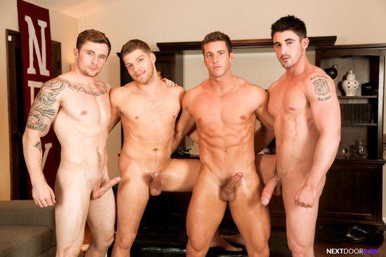 Derrick Dime, Bridger Watts, Rod Peterson, Markie More in Becumming Brothers_01