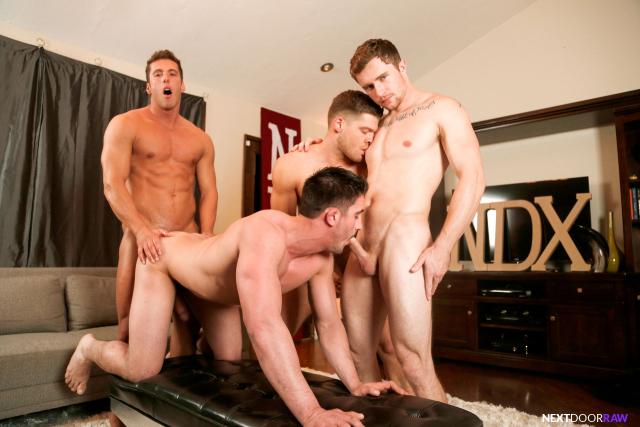 Derrick Dime, Bridger Watts, Rod Peterson, Markie More in Becumming Brothers_09