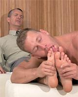 Tristan Worships Richs Dress Socks and Feet