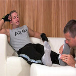 01 Staff Sergeant Tristan Has His Socks and Feet Worshiped