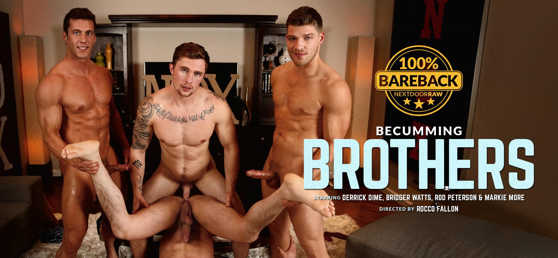 Derrick Dime, Bridger Watts, Rod Peterson, Markie More in Becumming Brothers