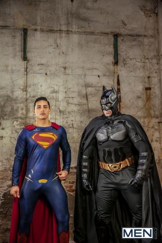 11 Batman V Superman : A Gay XXX Parody Part 3 Featuring Allen King, Dario Beck, Massimo Piano, Topher Di Maggio, and Trenton Ducati