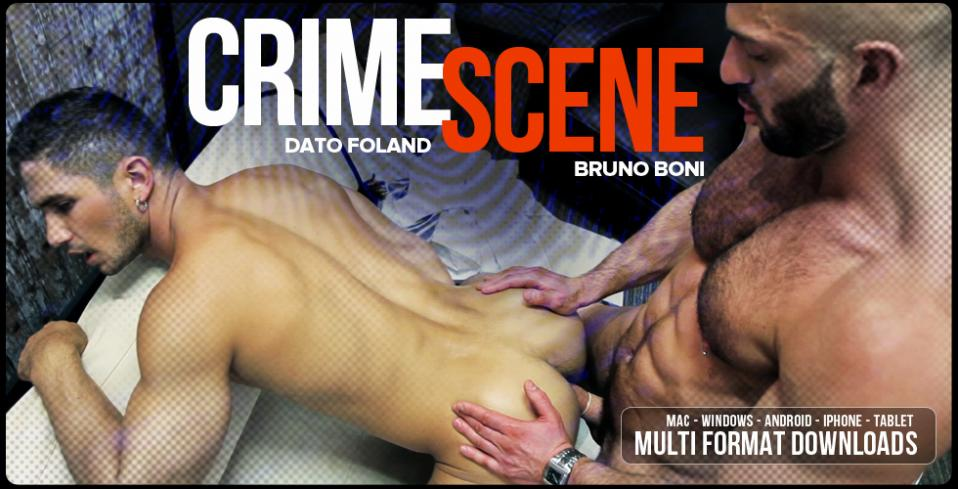 Men at Play Crime Scene Starring Bruno Boni and Dato Foland