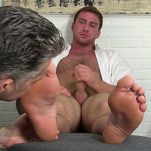 Connor Receives Foot Adornment From His Old Friend Ricky