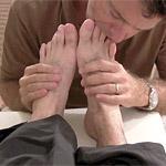 Berke's Dark Socks and Size 14 Bare Feet Worshiped at MyFriendsFeet