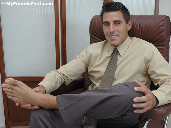 Peter's Dark Socks and Size 9 1/2 Bare Feet