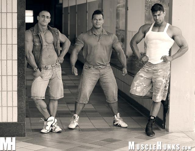 MuscleHunks Renaldo Arroyez, Tito Ortiz and Ricardo Rey