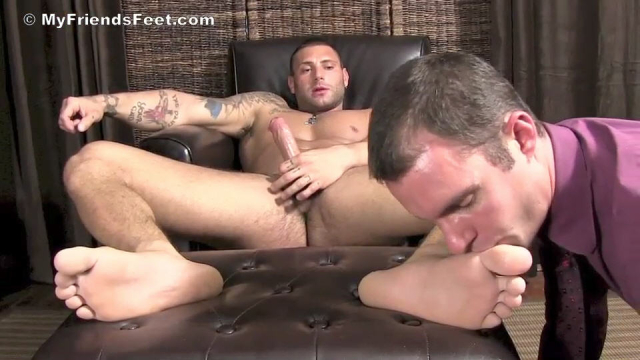 Aggressive Foot Top Mike Buffalari Worshiped at My Friends Feet