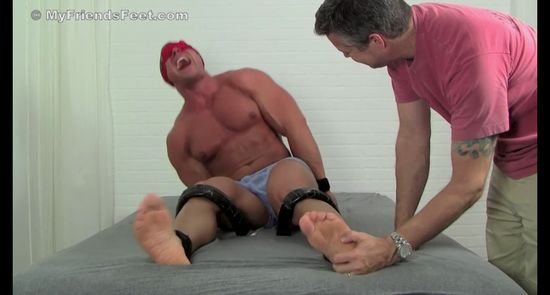 Muscular Jersey Boy Richie Tickled