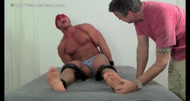 Muscular Jersey Boy Richie Tickled