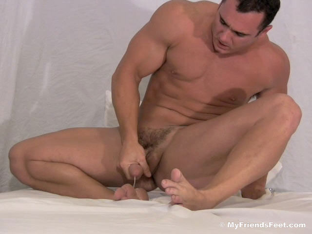Ace Hanson Jacks Off and Shoots A HUGE Load On His Feet