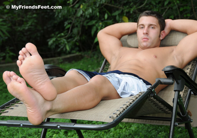 Tad's Size 12 Bare Feet and White Socks 061