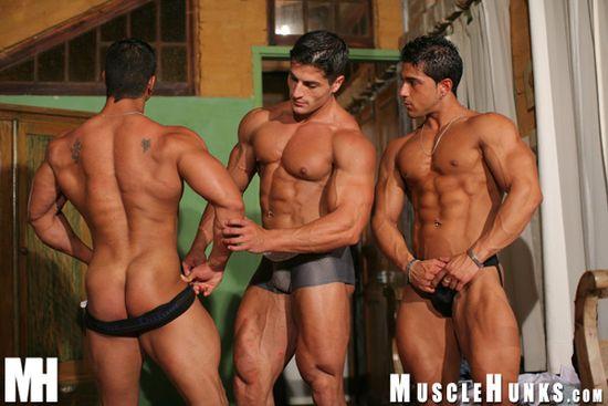 MuscleHunks Amerigo Jackson, Pepe Mendoza and Scott Kirby