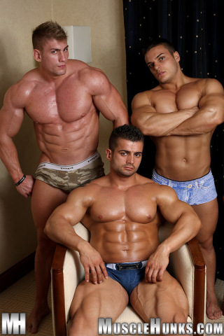 MuscleHunks Benny Ryder, Kevin Conrad and Sven Gronstrom