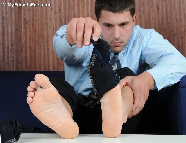 Tad's Dress Socks and Feet
