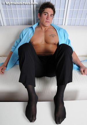 Tucker's Size 12 Feet In Sheer Socks and Bare