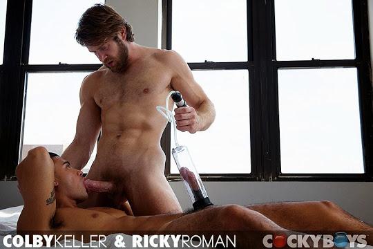 Colby Keller Hammers Ricky Roman