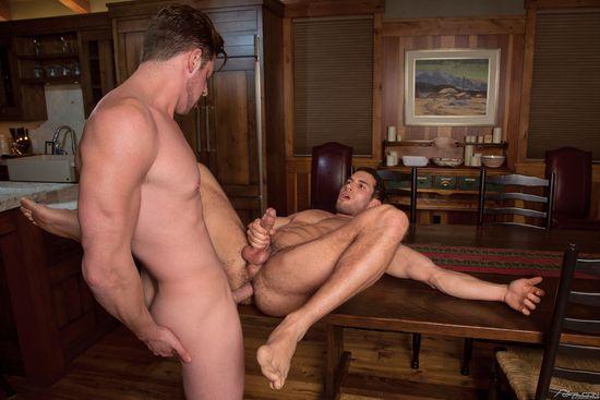 Ricky Decker and Andrew Stark in Tahoe - Cozy Up, Scene 1