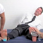 Cameron Tickled By Two Guys!