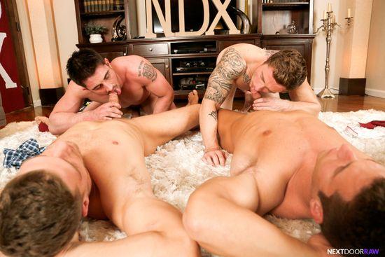 Derrick Dime, Bridger Watts, Rod Peterson, Markie More in Becumming Brothers_05