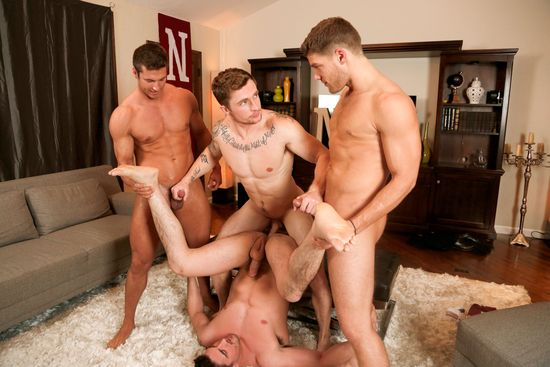 Derrick Dime, Bridger Watts, Rod Peterson, Markie More in Becumming Brothers_13