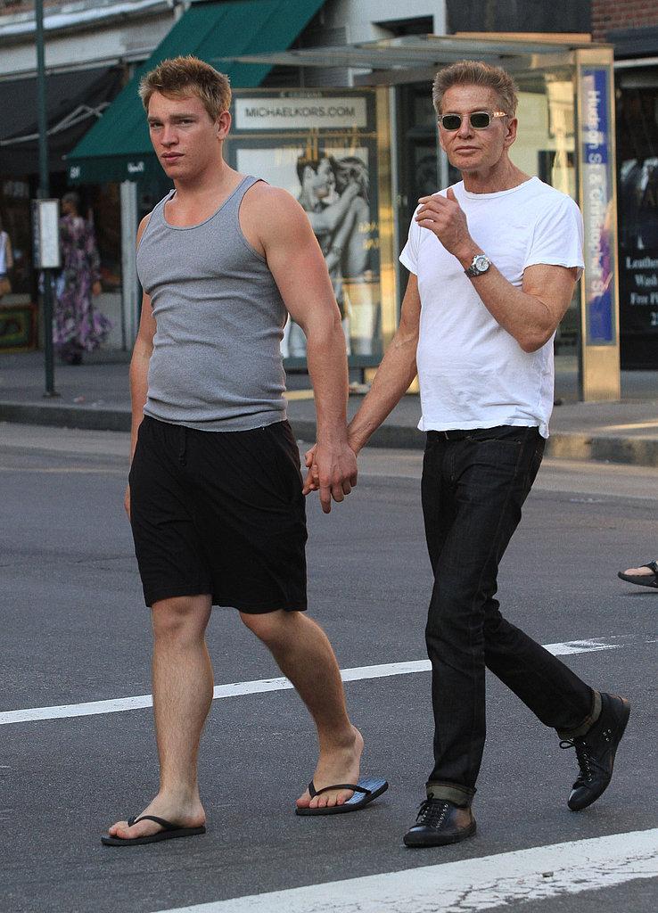 Boyfriends Nick Gruber and fashion designer Calvin Klein