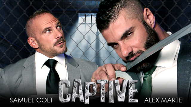 Men at Play Captive Starring Alex Marte and Samuel Colt