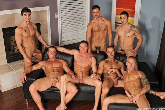 Samuel O'Toole, Rod Daily, Marcus Mojo, Campbell Stevens, Johnny Torque, Donny Wright and Brody Wilder